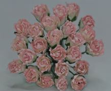 11mm BABY PINK CARNATION dianthus BUDS Mulberry Paper Flowers